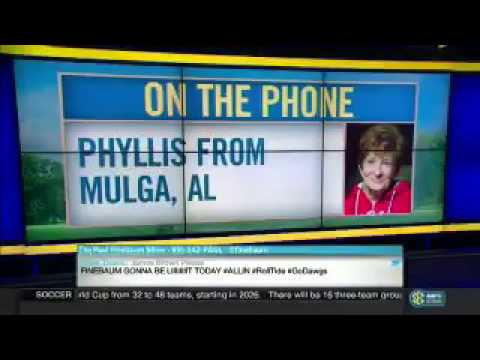 Crazy Alabama Fan Screaming at Paul Finebaum on his Show