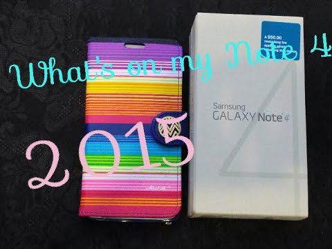 📱what's on my Samsung Note 4 2015 📱