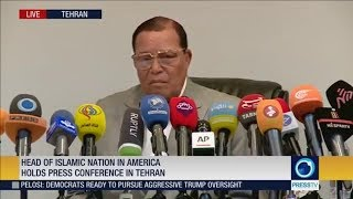 Farrakhan gets pulled off air as he defends himself in Iran!