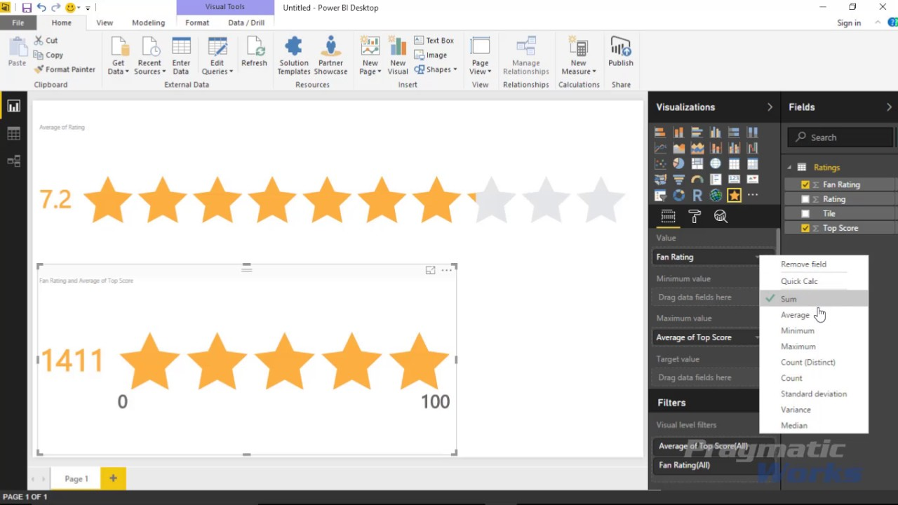 Power BI Custom Visuals - Stars