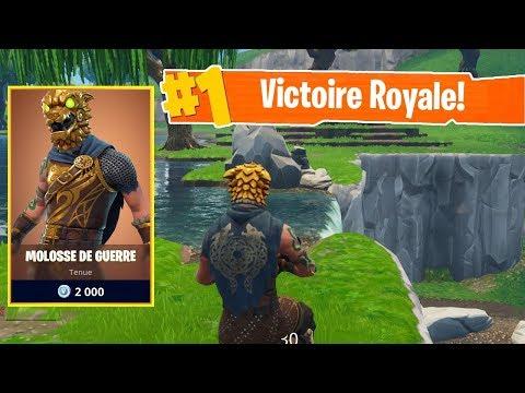 *NOUVEAU* SKIN LEGENDAIRE MOLOSSE DE GUERRE sur FORTNITE Battle Royale !