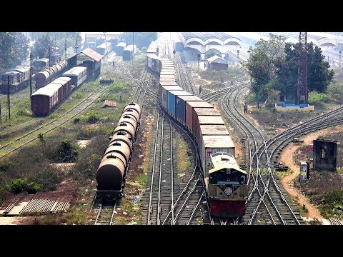 Bangladeshi Freight Train Departing Kamlapur ICD, Dhaka, Bangladesh (Part 1)