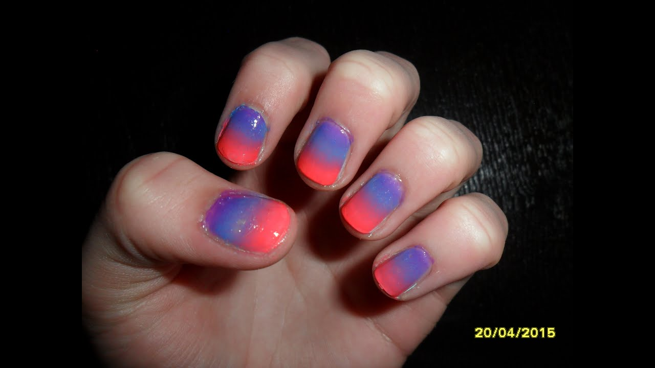 Electric Neon Ombre - Nail Tutorial - YouTube