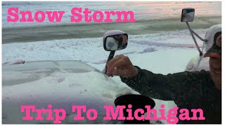 Truckers Life In America | Snow Storm | Trip To Michigan