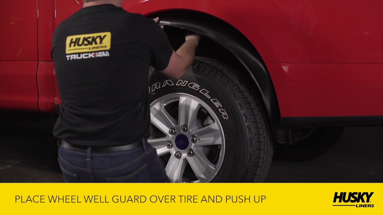 Husky Liners Wheel Well Guard Ford F150 Installation Video Youtube