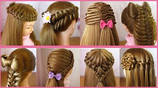 8 Beautiful Cute Hairstyles for girls | Hair Style Girl | Trendy Hairstyles | Tuto coiffures simples