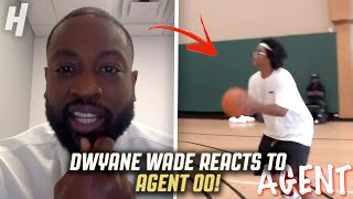 DWYANE WADE REACTS TO @Agent 00 JUMP SHOT!