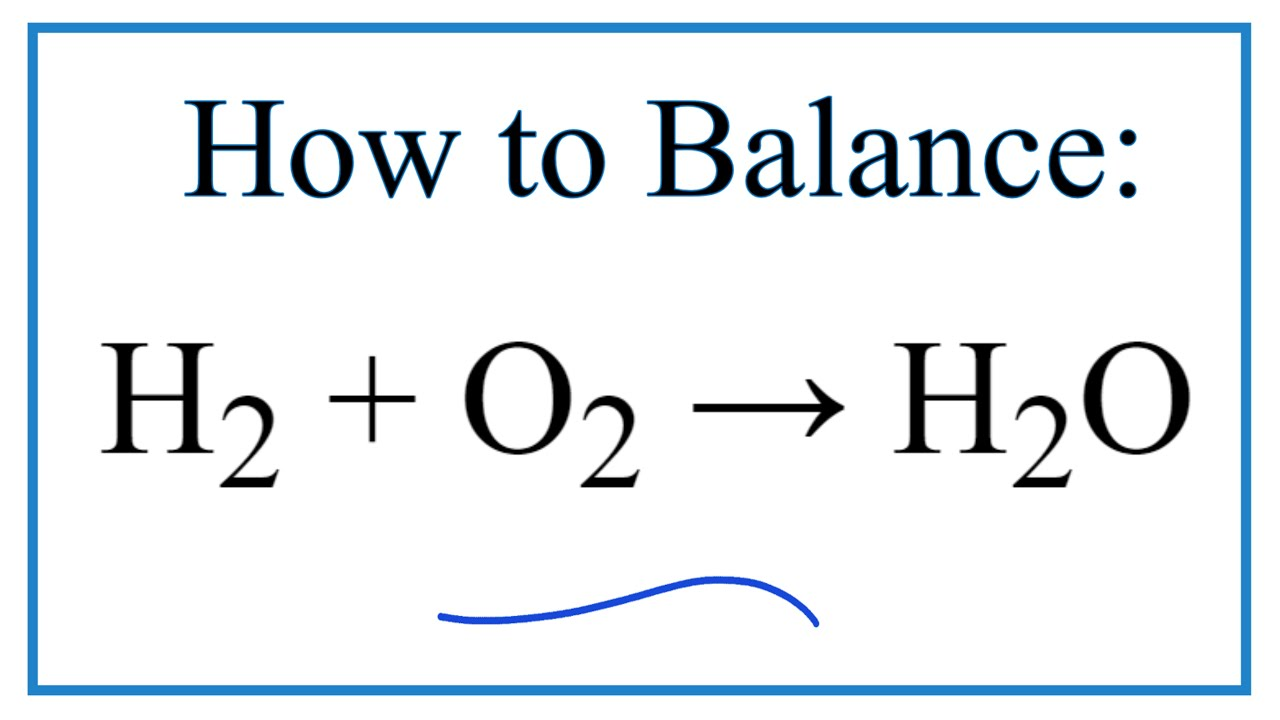 How to balance h2 o2 h2o youtube buycottarizona Image collections