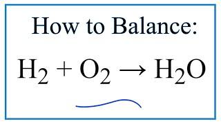 how to balance h2 o2 h2o
