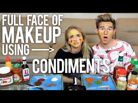 FULL FACE OF MAKEUP USING CONDIMENTS