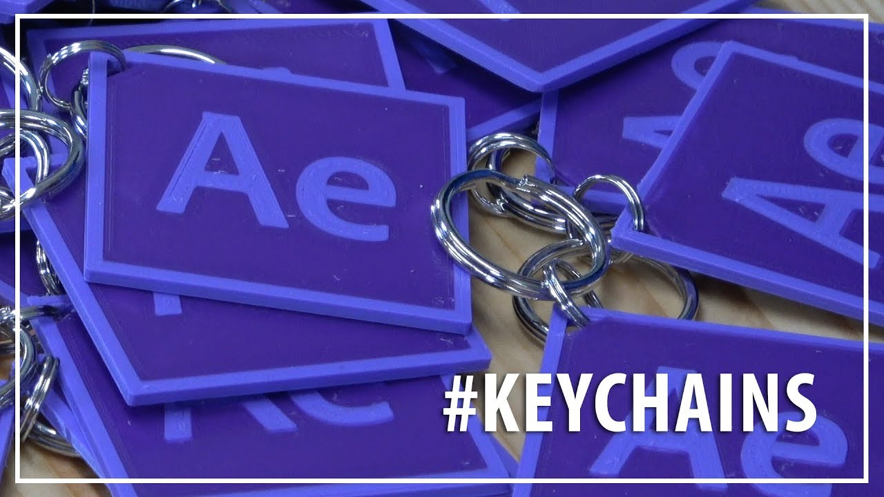 Make Your Own Custom Keychains! 3D Printing // After Effects, Fusion 360,  Prusa, Matterhackers