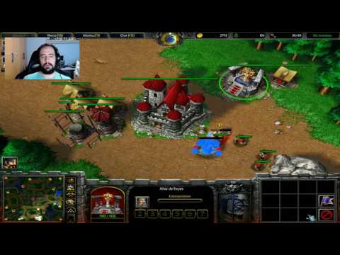 WARCRAFT III: REIGN OF CHAOS | DarkSoulEvO vs 3 IA DEMENTES -  Gameplay Español
