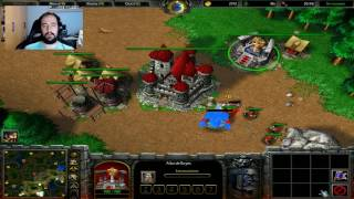 WARCRAFT III: REIGN OF CHAOS   DarkSoulEvO vs 3 IA DEMENTES -  Gameplay Español