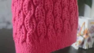 Вязание спицами шапочки, снуд и митенки сентябрь 2016