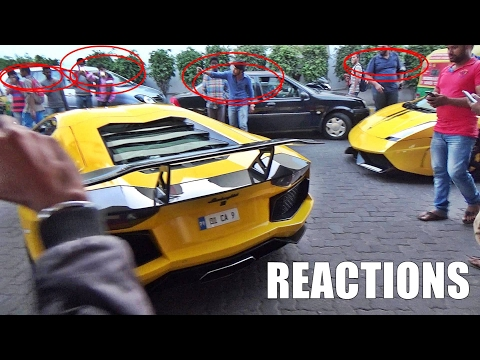 2 Lamborghinis Enter Petrol Station In INDIA & This Happens