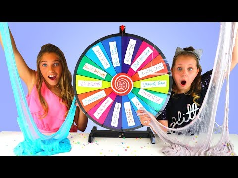 MYSTERY WHEEL OF SLIME SWITCH UP CHALLENGE!! Ruby Rube VS Rosie McClelland