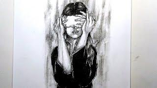 رسم سهل بالرصاص .. سلسلة الرسوم التعبيرية #30 || Easy pencil drawing .. Expressive drawings Series
