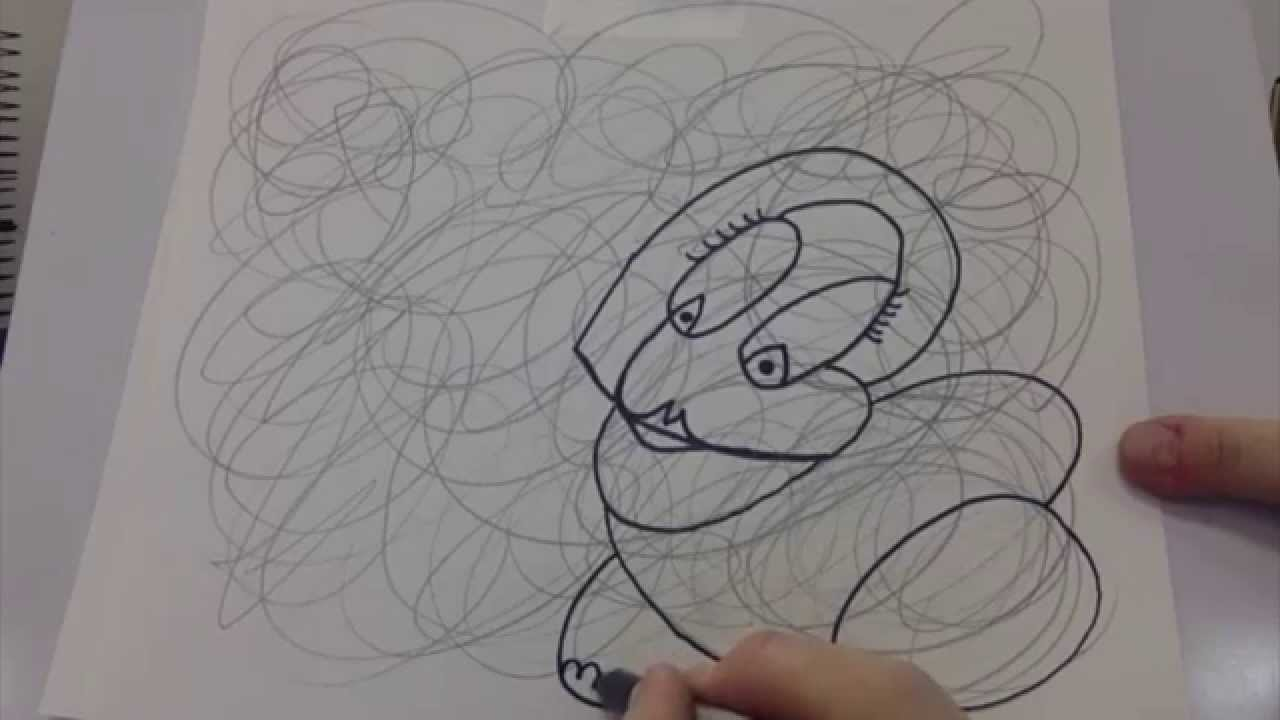Scribble Drawing Exercise : Creativity stretcher scribble line drawing youtube