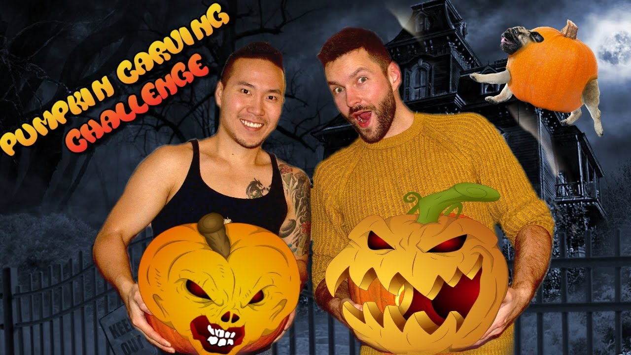 Pumpkin Carving Challenge Gay Couple Edition