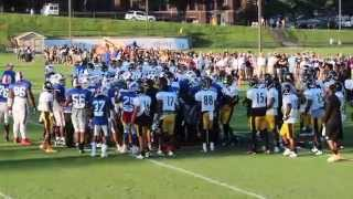 Pittsburgh Steelers Vs Buffalo Bills Fight At Training Camp.