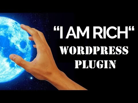 """Video tutorial for the """"I Am Rich"""" plugin I created thumbnail"""