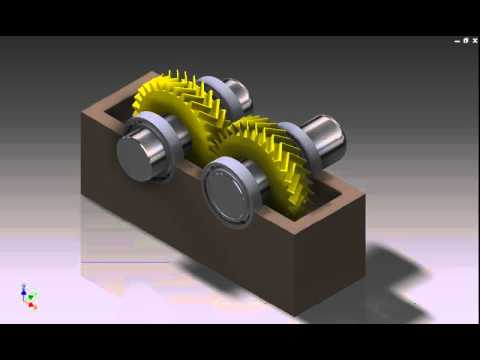 Autodesk inventor animation herringbone gear youtube autodesk inventor animation herringbone gear ccuart Image collections