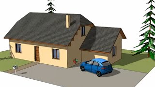 Tuto Dessiner sa maison avec SketchUp, chapitre #1 : dessin d'une maison