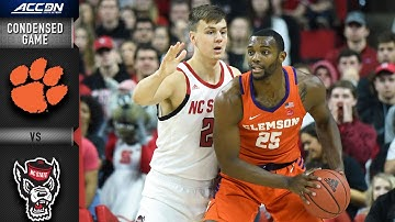 Clemson Tigers vs. North Carolina State Wolfpack Condensed Game | 2019-20 ACC Men's Basketball