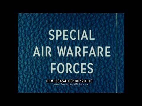 U.S. AIR FORCE SPECIAL AIR WARFARE FORCES  1965 VIETNAM WAR ERA MATS FILM  23454