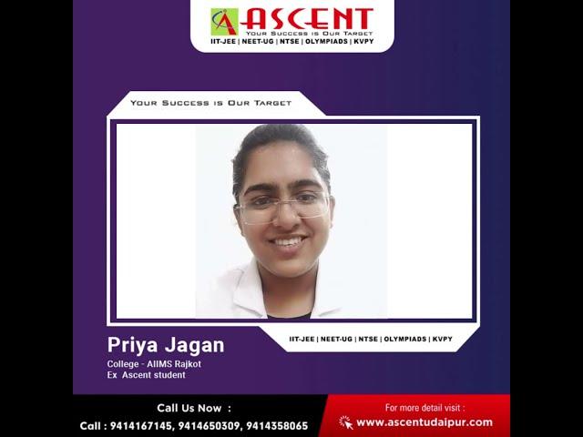 Ms. Priya Jagan, Ascent Career Point