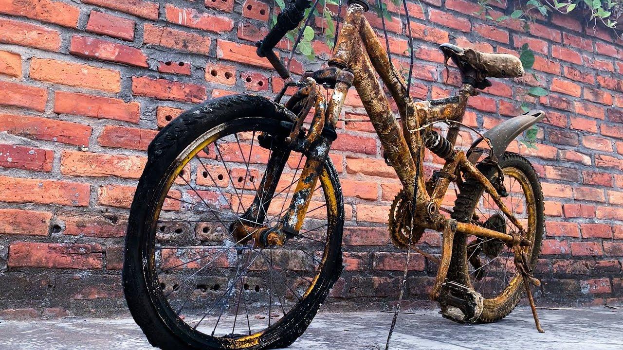 Restoration Rusty Kids Bike   Restoring Children Bicycle full video