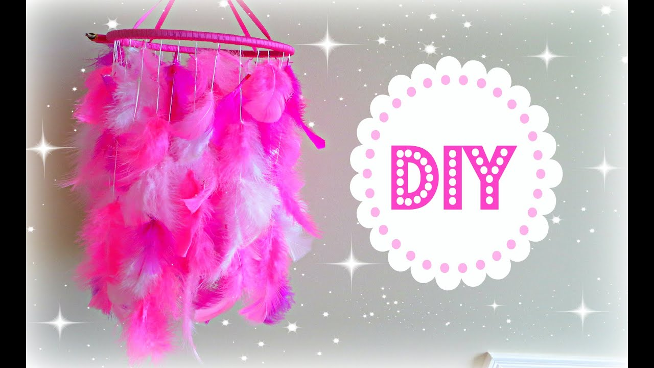 DIY Feather Mobile Dream Catcher Room Decoration 2CupsofDelight