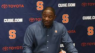 Syracuse coach Dino Babers Monday press conference Nov. 12, 2018