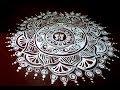 floor art jhoti chita  rangoli art   Easy Alpana Design  Free Hand Kolam Design