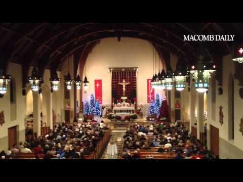The choir at St. Peter Catholic Church performing at ...