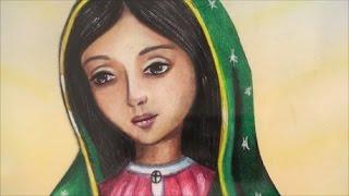 Como dibujar a la Virgen de Guadalupe