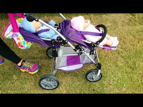 Bruno y Abril estrenan carrito de gemelos Ksi Bebés Baby Born Nenuco