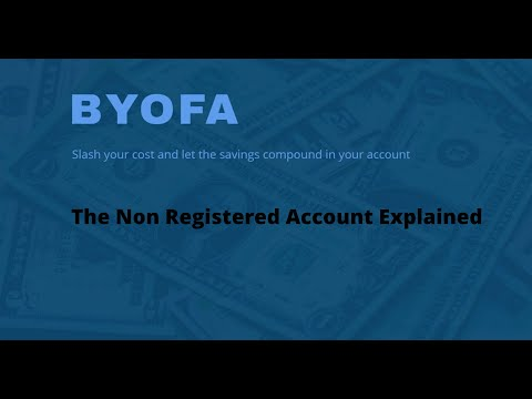 The Non Registered Account Explained