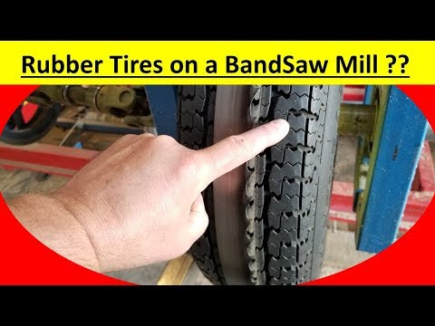 Rubber Tires on a Bandsaw Sawmill ??