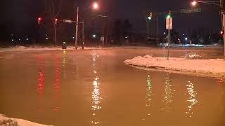 Water main break closes portion of Engle Road