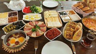 We Prepared an AMAZING Traditional TURKISH BREAKFAST!  Möhtəşəm Bir Türk Səhər Süfrəsi Hazırladıq! screenshot 5
