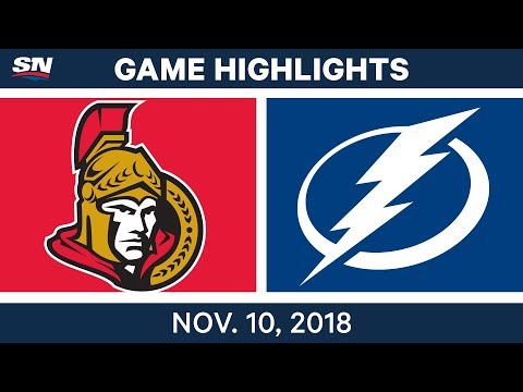 NHL Highlights | Senators vs. Lightning – Nov. 10, 2018