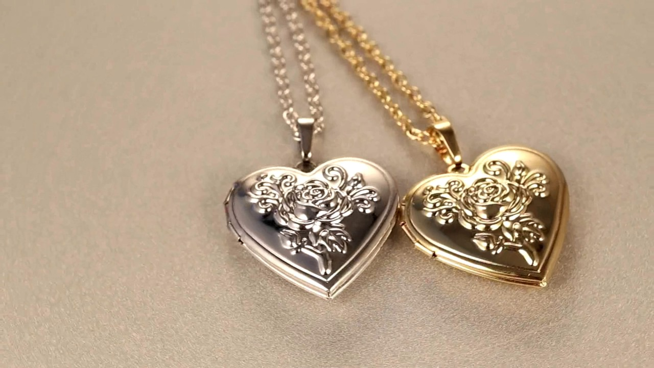 heart locket necklace women jewelry for love gift youtube