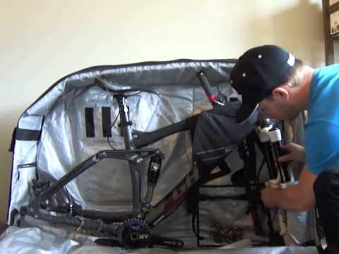 How To Pack A Mountain Bike Into An Evoc Bike Bag Youtube
