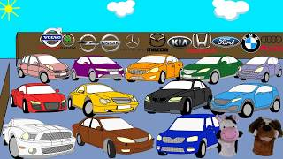 Cars for kids Learning car brands and colors with Zoo Boom Car names for children