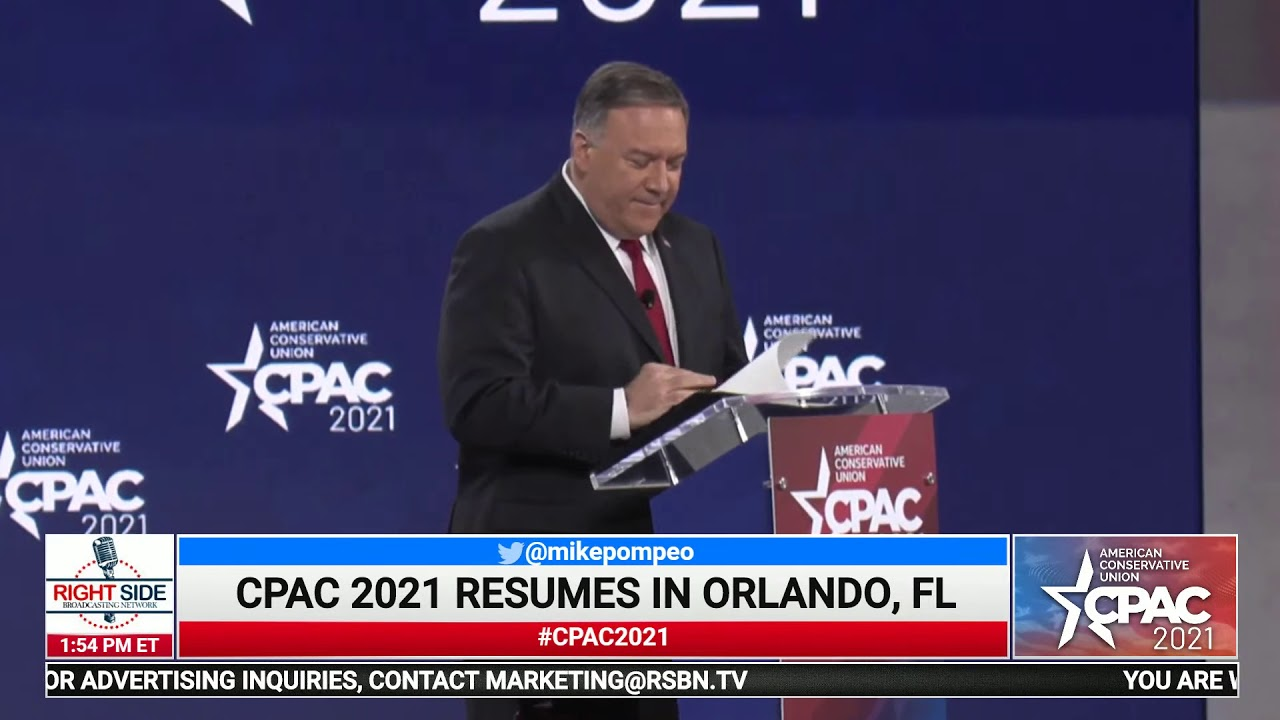 Fmr. Secretary of State Mike Pompeo Full Speech at CPAC 2021 2/27/21