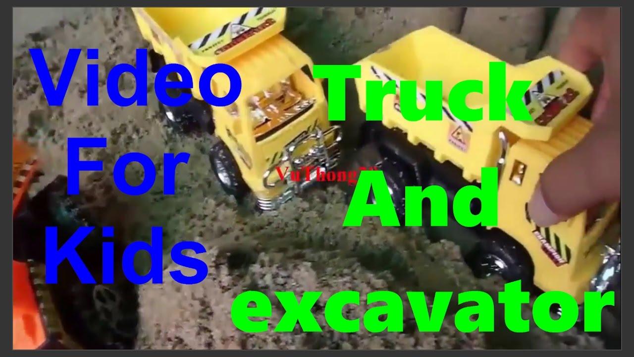 Film Kartun Animasi Anak Mainan Mobil BalapBeko Excavator
