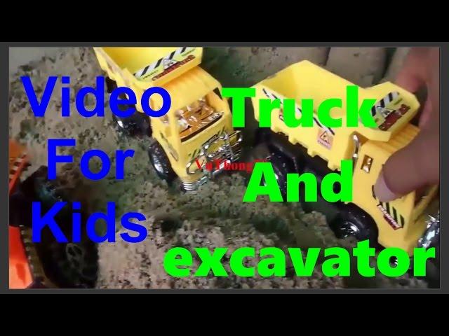 Film Kartun Animasi Anak - Mainan Mobil Balap,Beko Excavator