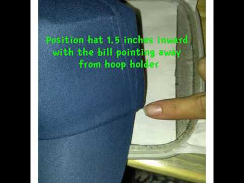 How to embroider a hat without a hat hoop youtube how to embroider a hat without a hat hoop ccuart Choice Image