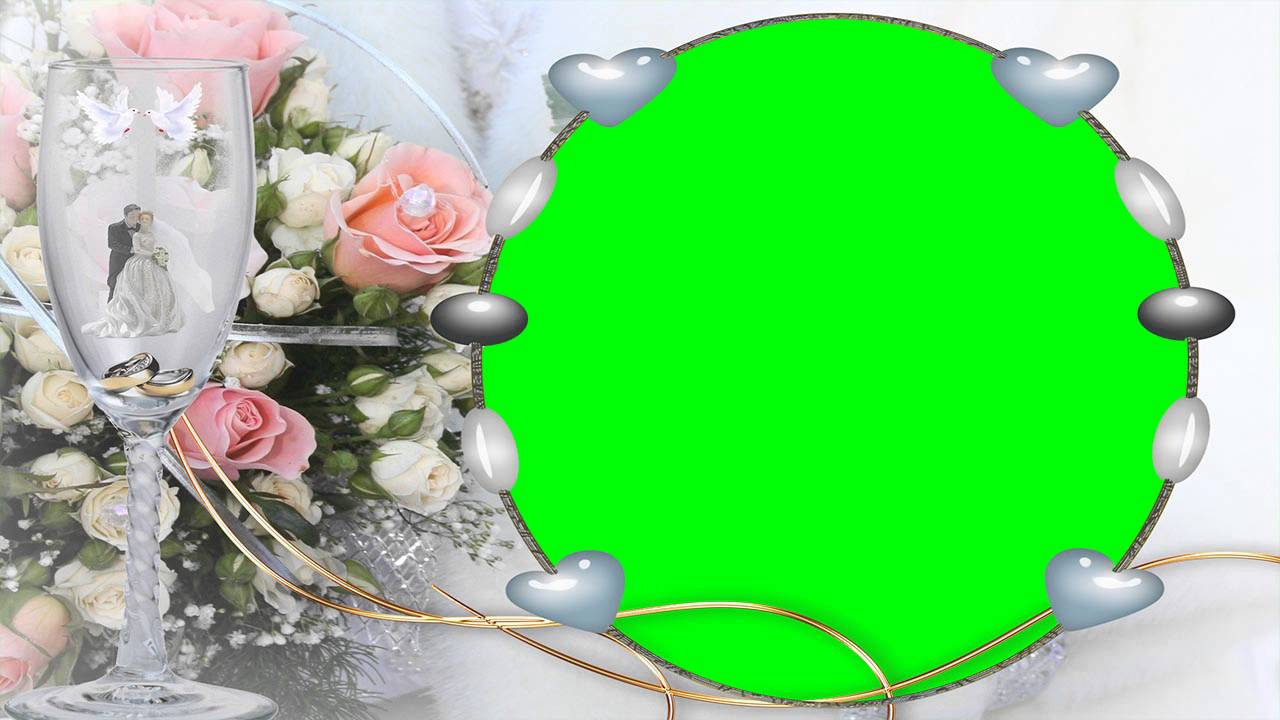 nice photo frame green screen video free for editing 1